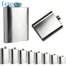 Tenske Top Grand 6 Size 4oz -18oz Stainless Steel Hip Flask Liquor Whisky Outdoor Portable Pocket Flasks Alcohol Bottle