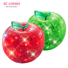 1pc Apple Type 3D Puzzle DIY Adult Puzzle Crystal Puzzle With LED Light Jigsaw Assembly Model Furniture Gadget Educational Toys(China)