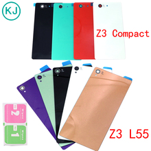 New Z3 Compact Battery Back Glass Cover Housing Sony xperia Z3 L55T D6603 D6643 Mini D5803 D5833 Back Door Battery Case