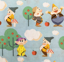 100*110cm Snow White and the Seven Dwarfs girl Cotton Fabric For Sewing Fat Quilting Patchwork Doll baby Kids Bedding(China)