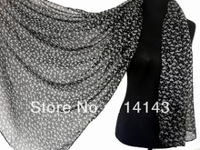 10pcs/lot Fashion Cat Kitty Animal Print Scarf Shawl Wrap Voile Polyester Scarves 180*110cm, Free Shipping