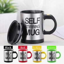 caneca mixer Automatic Electric Self Stirring Mug Coffee Mixing Drinking Cup skinny moo mixer 350ml, bluw coffee mixing cup(China)