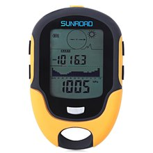 SUNROAD Outdoor Multifunction Waterproof LCD Digital Compass Barometer Altimeter Thermometer Hygrometer for camping Hike 2016