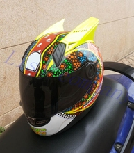 The four seasons all covered motorcycle helmet BMX racing helmet male and female horned helmet personality