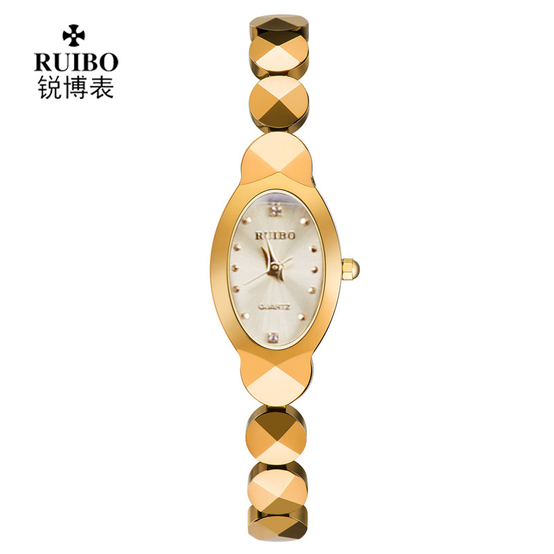 Fashion lady Tungsten steel Wrist watches Oval Diamond luxury Brand Female Watch quartz Gold Bracelet casual womens clocks<br><br>Aliexpress