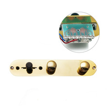 1Pc Gold Loaded Prewired Control Plate Switch for Fender Telecaster Guitar(China)