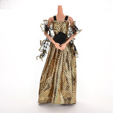 2016 1 Pcs Hot Selling New Arrival Crocodile Grain Doll Clothes Dress For Barbie Doll With Shawl Dolls Accessories