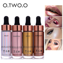 O.TWO.O Brand Liquid Highlighter Face Brighten Makeup Glitter Face Glow Shimmer Bronzer Highlighter Liquid Base Cosmetics(China)