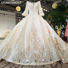 Buy LS01784 wholesale hollow back skirt long sleeves hollow bottom skirt white 2018 newest real design show wedding dress train for $931.25 in AliExpress store