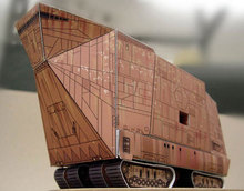 Paper Model Star Wars Crown deals SANDCRAWLER Paper Craft DIY Handmade Toy(China)