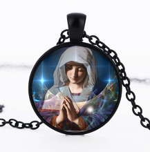 Virgin Mary Pendants & Necklaces Madonna Bronze Jewelry Mother of God Retro Necklaces Jewellery Girls Women collares