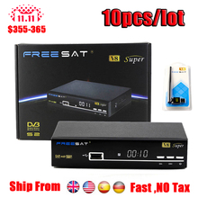 FREESAT V8 Super FTA HD 1080P DVB-S2 Satellite Receiver internet sharing dvb-s2 support iptv/usb wifi/bisskey/epg Freesat TV Box(China)