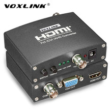 VOXLINK AHD/TVI/CVI CCTV Camera Analog Signal To HDMI/VGA/CVBS Converter 720P/1080P Full HD Video Converter