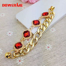 Dower Me Brand 1pc Phone Hanging Ornaments Crystal Rhinestone Golden Noble alloy Chain Mobile Phone lanyard/Finishing/Decoration