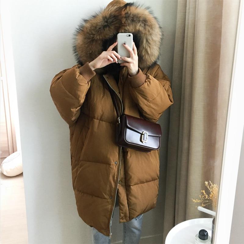 Large fur collar thickening coat medium-long down female 2016 fashion loose WOMEN cotton padded jacket XHSD-4006Одежда и ак�е��уары<br><br><br>Aliexpress