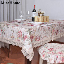 Dining table cloth fabric fashion rustic tablecloth table cloth cushion chair covers set table runner