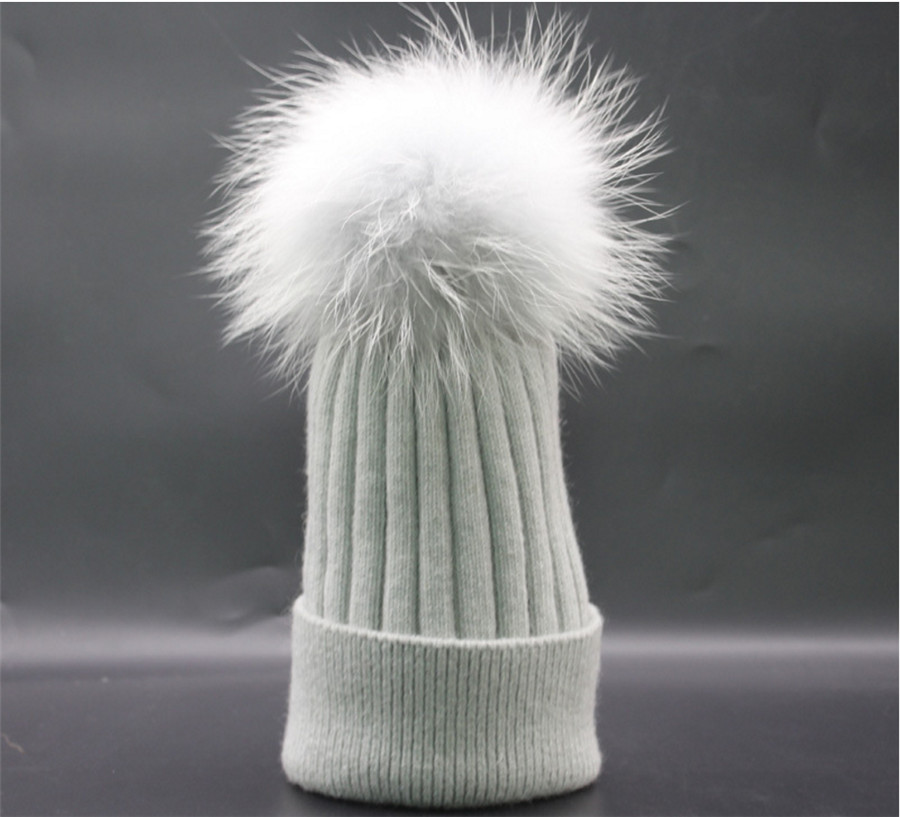 [Ode To Joy]Women Winter warm soft Hat Real Fur pompom skullies Beanies Cap Wool Cashmere Hats For Men high qualityОдежда и ак�е��уары<br><br><br>Aliexpress