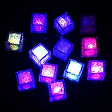 12pcs LED Ice Cubes Change Water Sensor Light for Bar Wedding decoration partyDating Decor christmas decoration for home natal-q