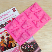3D Chocolate Bear Pattern Silicone Cake Mold Ice Cream Mould Soap Fondant Cupcake Bakeware Baking & Pastry Tools W160