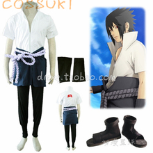Free Shipping! Newest! Stock! Naruto Uchiha Sasuke 3rd Full Set Cosplay Costume Suits ,Perfect Custom For you!