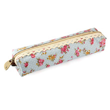 2017 New Fashion 1PC Flower Print Lace Pen Pencil Case Makeup Cosmetic Bag Pouch Purse D33Ma10