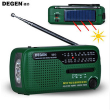 Degen Brand FM Radio DE13 FM MW SW Crank Dynamo Solar Power Emergency Radio World Receiver Quality VS Tecsun PL-310 Panda 6200