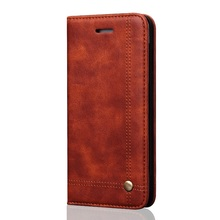 For iPhone SE/5s/5 Retro Crazy Horse Leather Wallet Mobile Protector Case for iPhone 5 5s SE - Light Brown