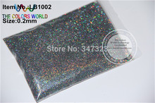 0.2mm Holographic Laser Light Black  Color Glitter Powder for nail,tatto art decoration DIY shinning powder