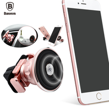Baseus Universal Magnetic Car Mobile Phone Holder Air Outlet Car Mount Holder Stand Dock Gold Aromatizing magnetic Phone Holder(China)