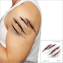 Halloween Zombie Scars Tattoos stickers With Fake Scab Blood Special Fx Costume Makeup Halloween Decoration