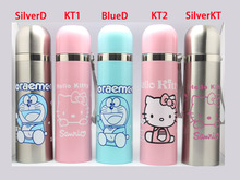 2016 new design KT hello kitty Jingle cats thermos 500ml stainless steel vacuum cup vacuum thermos thermo mug