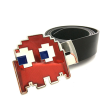 Buy Designer belts men high Black Leather belt men video game pacman red monster Big belt buckle metal Belts men for $14.99 in AliExpress store