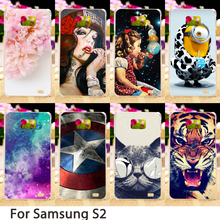 Soft Phone Cases For Samsung Galaxy SII I9100 4.3 inch S2 GT-I9100 Case Colorful Hard Back Cover Skin Housing Sheath Hood Bag