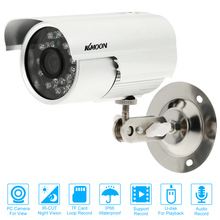 KKmoon CCTV Security Surveillance Bullet Camera 24 IR LED Weatherproof Outdoor USB Disk PC Cam Support Audio TF Card Loop Record