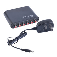 Hot AC3/DTS Digital Optical Audio To 5.1/2.1 Channel Stereo Analog RCA Converter Wholesale