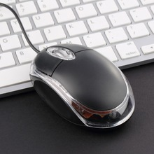 HOT 1Pc High Quality Black Modern Design Tiny USB Optical Scroll Wheel Mice Mouse Freeshipping Wholesale(China)