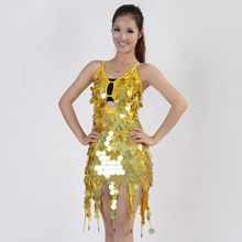 BLINGSTORY Europe Glitter Sequins Bar Ds Nightclub Singer Performing Costumes sexy knee length dresses HJZ006