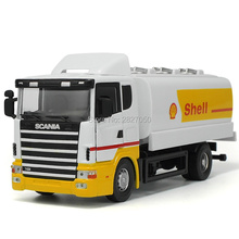 High Quality Scania Toy Tanker Alloy Construction Vehicles Alloy Model As Gift For Boy Children