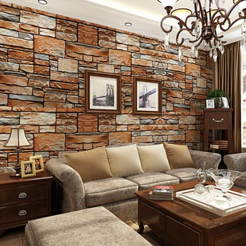 3D three-dimensional simulation messy rock stone culture stone wallpaper bedroom living room TV sofa backdrop wallpaper<br><br>Aliexpress