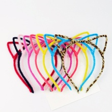 Stylish Women Girls Furry Cat Ears Headband Devil Cat Head Hoop Fine Hair Ornaments Hair Accessories Headwear Sexy Hair Band(China)