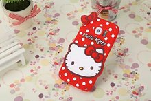 Fashional new arrival cute cartoon soft silicon material Heart-shaped Hello kitty cover Case for samsung Galaxy S6 edge