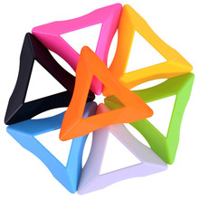 1Pcs Colorful 7.5cm Plastic Triangle Universal Magic Cube Base Holder Frame Stand Tower Accessories Fast Shipping