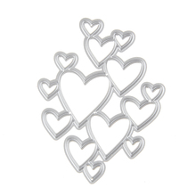 Adv-one 61*79mm Heart Scrapbooking Set DIY Carbon Sharp Metal steel cutting die Book photo album art card Dies Cut 2017 New Hot