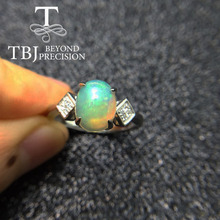 TBJ,Natural ethiopian opal in 925 sterling-silver jewelry, elegant design in 925 silver gemstone jewelry with gift box,free ship