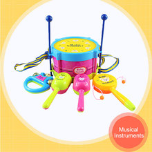 Baby Hanging Musical Instruments Toys Drum Set Colorful Educational Drum Toys For Children's Toys Gift