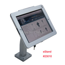"for ipad 2/3/4/air/pro 9.7"" table holder stand safety desk locked mounting display POS kiosk bracket on trade fair or exhibition"
