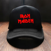 New 2017 Fashion Winter Print Iron Maiden Rock Band Mens Snapback Baseball Caps Brand Hip Hop Summer Hats For Women Cotton Kids