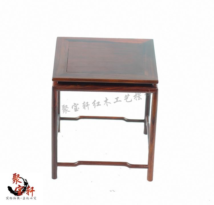 Annatto square base solid wood household act the role ofing is tasted jade vase stone carving handicraft furnishing articles<br>