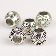 925 Sterling Silver Heart-Shaped Round Bow-Knot Charm Beads Charms Pendants for Necklace Jewelry Making DIY Handmade Craft