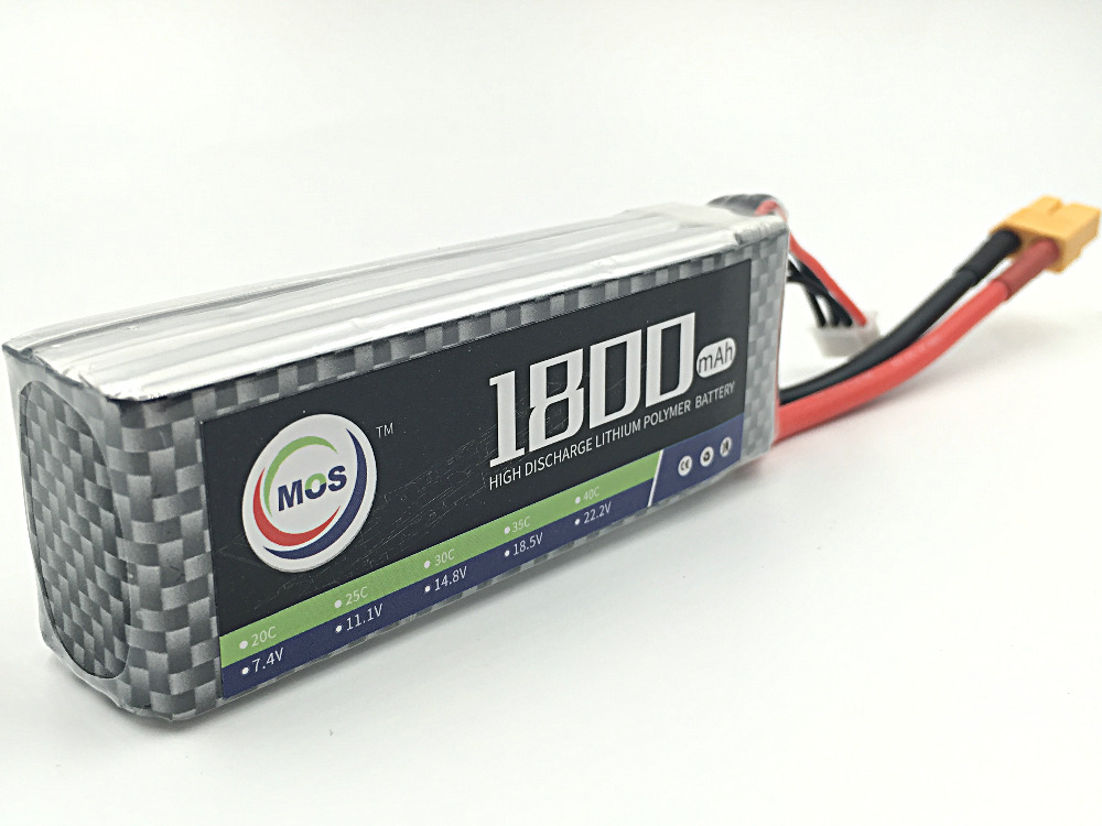 MOS 4S lipo battery 14.8v 1800mAh 25C For rc helicopter  Free shipping<br><br>Aliexpress